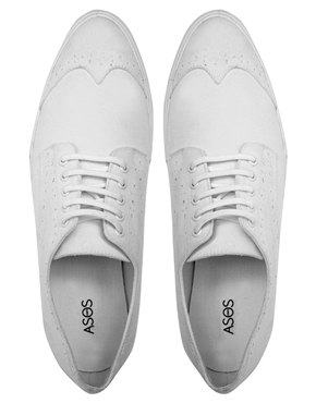 ASOS Canvas Brogue Plimsoll