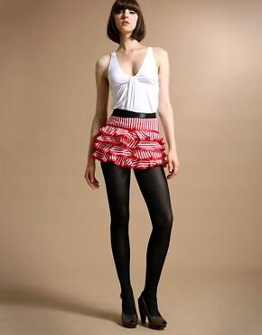 Striped Ra Ra Skirt