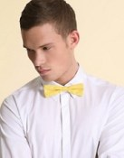 ASOS Plain Cotton Skinny Bow Tie