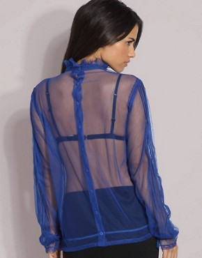 ASOS Sheer Blue Blouse