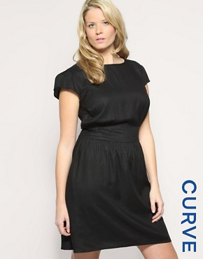 ASOS CURVE Fitted Waist Dress