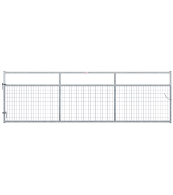 Behlen 14 ft. Galvanized 2 in. by 4 in. Wire Mesh Gate