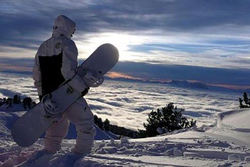 Сноубордист на Драгобрате