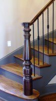 Antique Stair Post Reproduction   Image Design Stairs