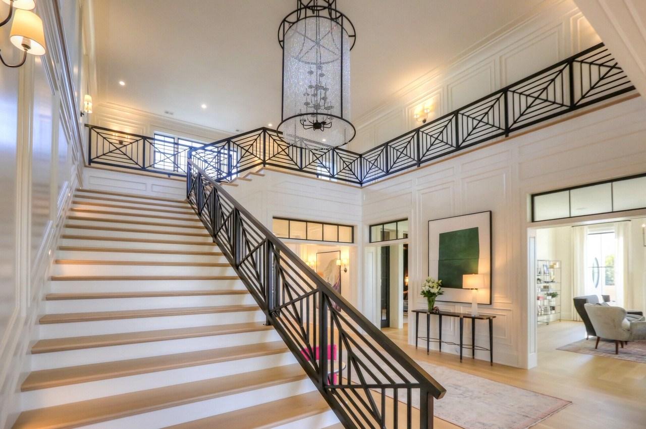 Straight Stairs Portfolio Image Design Stairs   Stairs Design In Lobby   Wooden   Round   Glass   Residential   Duplex