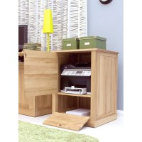 Mobel printer computer storage cabinet cupboard solid oak ...