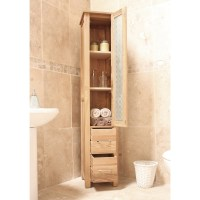 Mobel bathroom cabinet tall storage cupboard solid oak ...