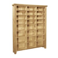Provence solid oak furniture large CD DVD media storage