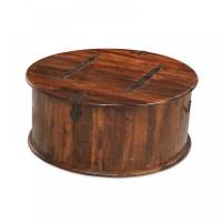 Jodhpur sheesham indian furniture round coffee table ...
