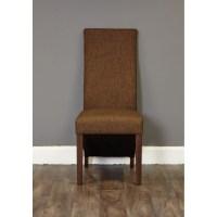 Shiro dark wood modern furniture set of six upholstered ...