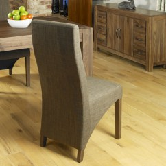 Dark Walnut Dining Chairs Room Chair Covers Near Me Linea Solid Wood Furniture Set Of Six