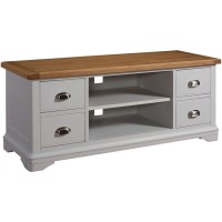 Dillon oak grey painted furniture living room television ...