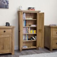 Original rustic CD DVD storage cabinet bookcase unit solid ...