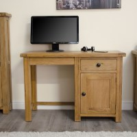 Original rustic solid oak furniture small computer laptop