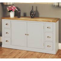 Chadwick grey painted oak furniture living dining room ...