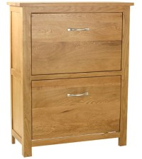 Langdale solid oak hallway furniture hall shoe storage