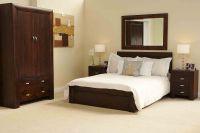 Michigan DARK WOOD bedroom furniture 5' KING SIZE BED | eBay