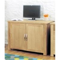 Aston oak contemporary furniture hidden home office ...