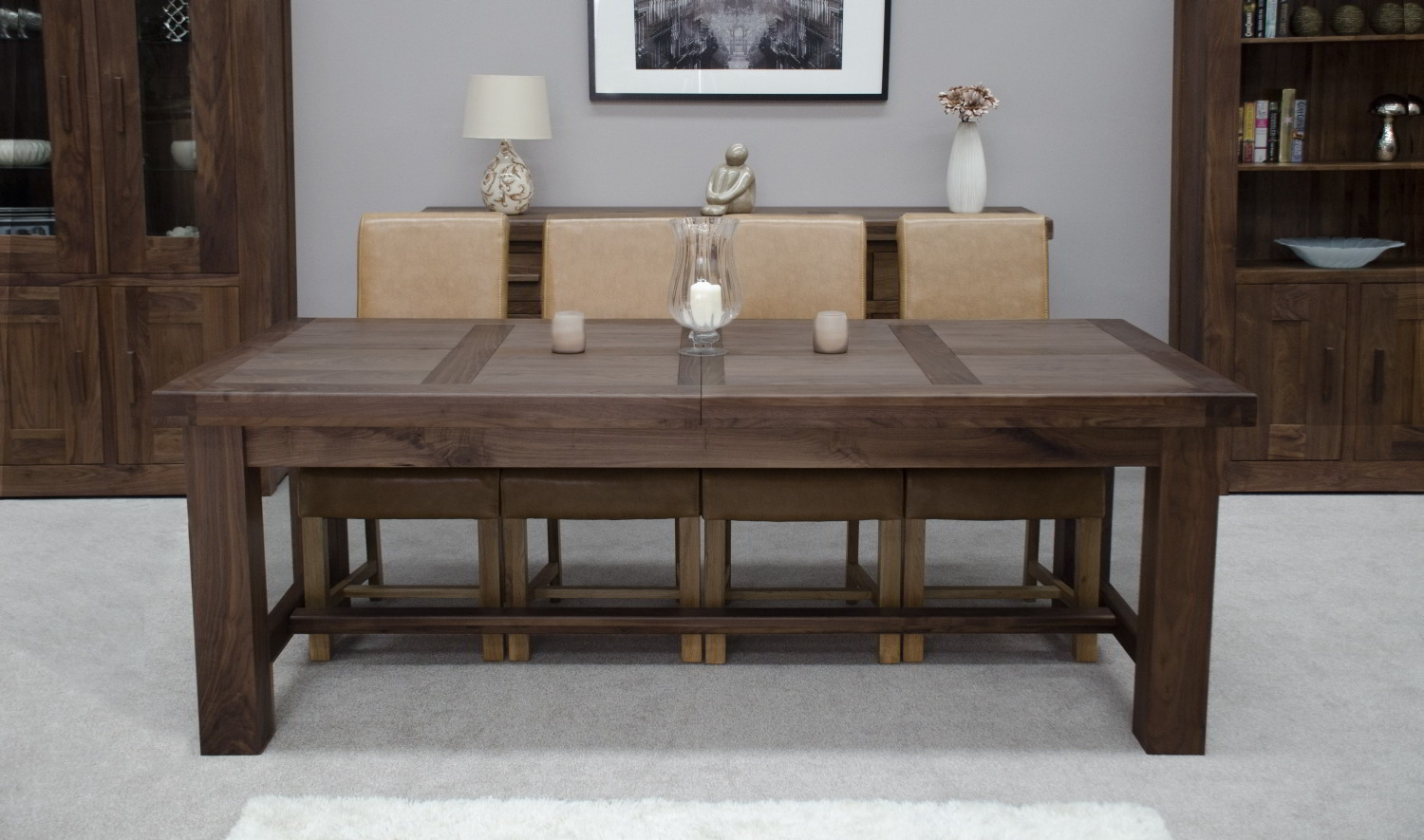 Dining Room Tables With Chairs Kendo Solid Walnut Dining Room Furniture Extra Large
