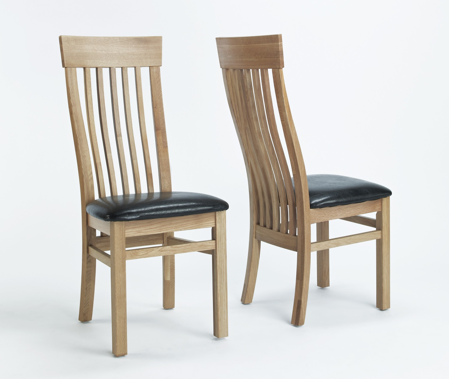 Unfinished Dining Room Chairs Compton Solid Oak Furniture Set Of Four Leather Seat