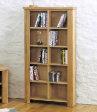 Salisbury oak home furniture CD DVD storage cabinet rack unit