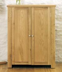 Salisbury oak home furniture hallway shoe storage cabinet ...