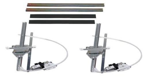 Flat Glass Power Window Kit For 2 Doors With GM Style