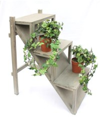 Flower step 14B370 Wooden 66cm Flower Stand Plant Steps ...