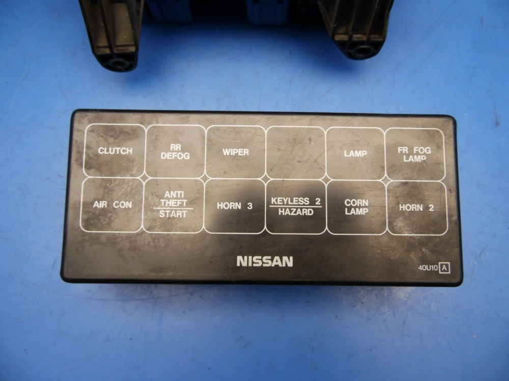 medium resolution of 95 96 nissan maxima oem under hood fuse box w fuses relays flaw