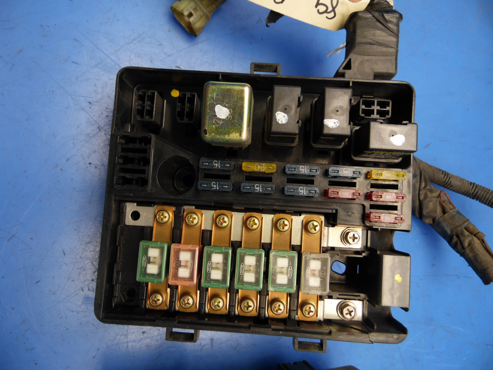 hight resolution of 88 89 honda prelude oem under hood fuse box fuses relays flaw 2