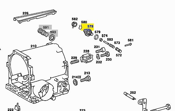 MERCEDES TRANSMISSION VALVE W107 W116 W123 350SL 350SLC