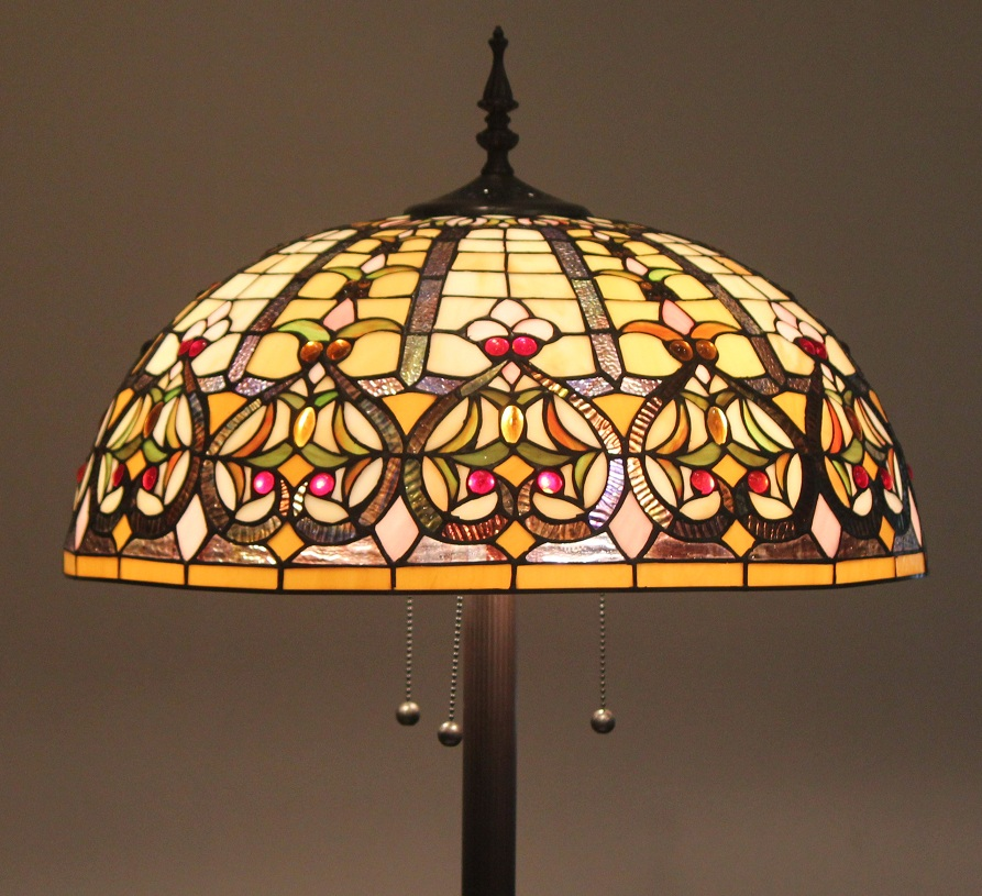 Tiffany Style Stained Glass Floor Lamp Granduer w/ 20