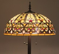 Tiffany Style Stained Glass Floor Lamp Granduer w/ 20 ...