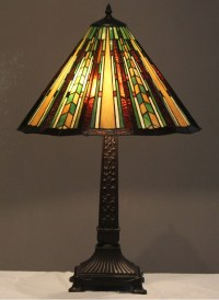 Tiffany Style Stained Glass Mission Lamp Prairie w/ 18 Shade