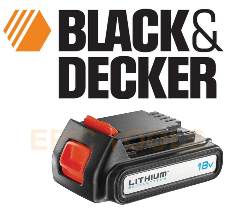 Black Breakdown Decker Lithium Charger And