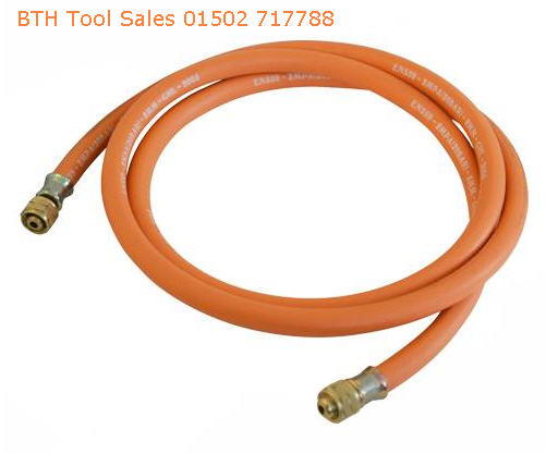 2M Gas Hose With Brass End Fittings For Torch Regulator