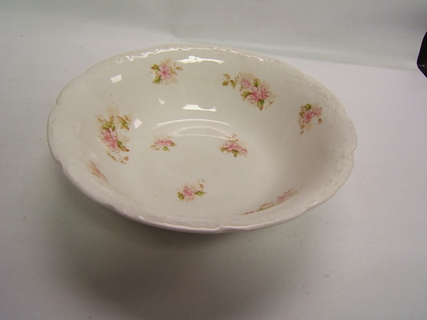 Warwick China Vintage Serving Bowl Pink Flower WAR63 EBay
