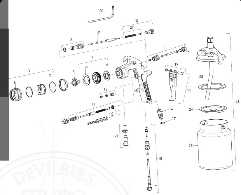 devilbiss spray gun parts diagram 2001 chevy malibu wiring gti free for you pri gfg pro baffle head seal kit list hd