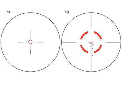 Trijicon VCOG 1-6x24 FFP Riflescope .223/55 Grn Bal Ret QR