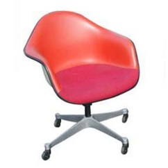 Fiberglass Shell Chair Swivel Green Metro Retro Furniture 1 Herman Miller Eames Arm