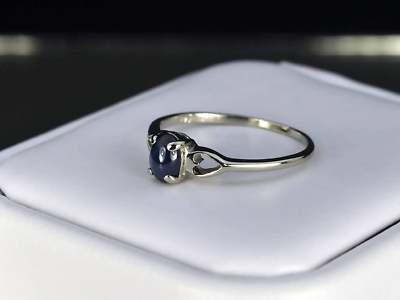 LEA LANE JEWELRY  10k White Gold Ladies Blue Star