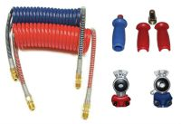 Power Products 15' Coiled Air Hose Kit with Gladhands and ...