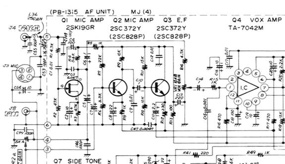 YAESU FT-101 FT-101B FT-101E FT101EE FT101EX SCHEMATICS