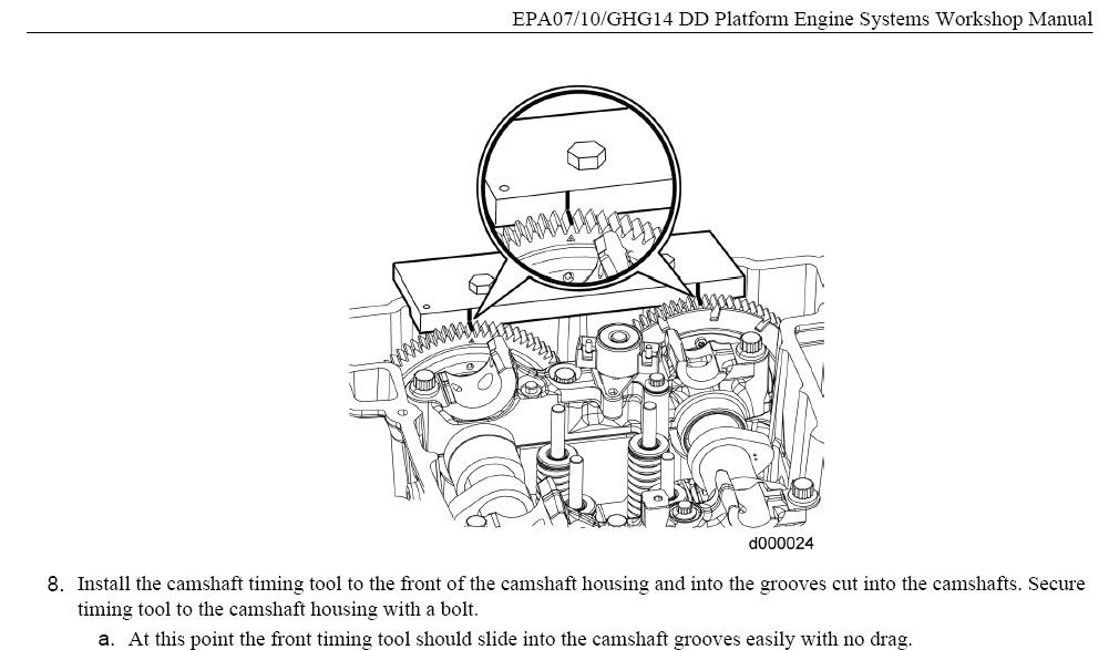 Detroit Diesel DD13 DD15 DD16 EPA07-10-GHG14 Engine