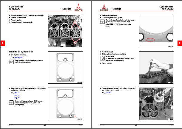 Deutz TDC 2015 Service Manual Engine Motor Tractor Truck