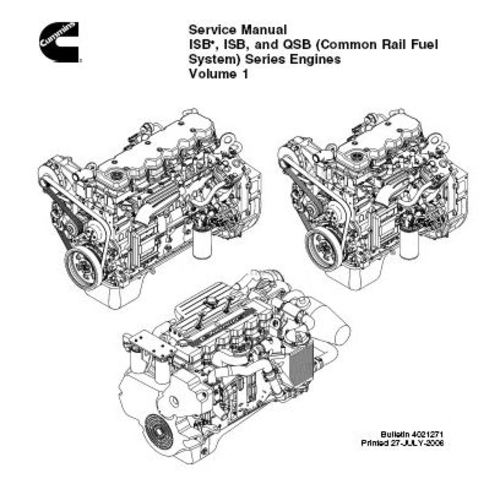 Cummins 2006+ ISBe, ISB, QSB Common Rail Fuel System 3.9 4