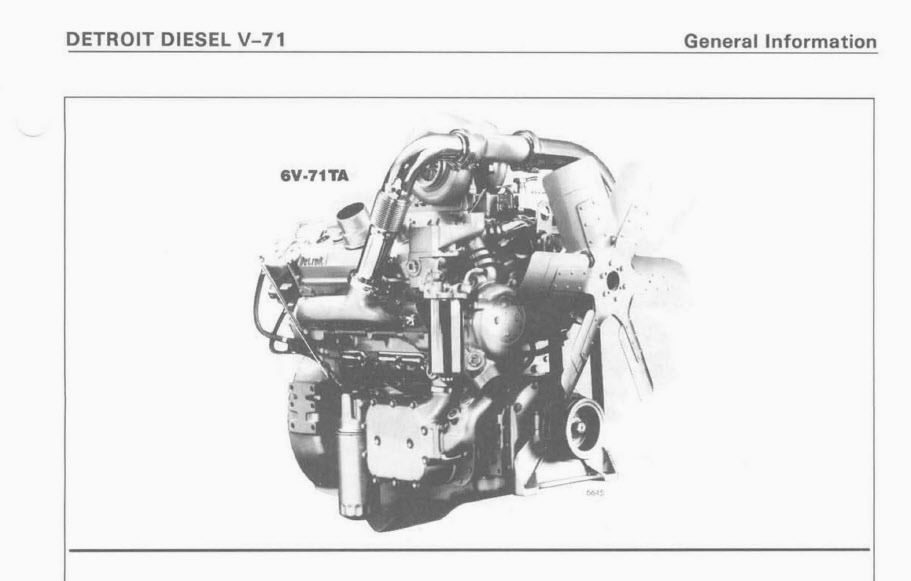 Detroit Diesel Series V-71 Service Manual 8V-71TA 6V-71TA