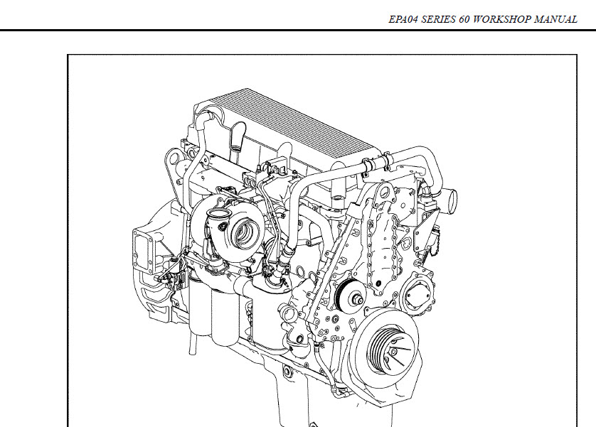 DETROIT DIESEL SERIES 60 2010 FULL SERVICE MANUAL FACTORY