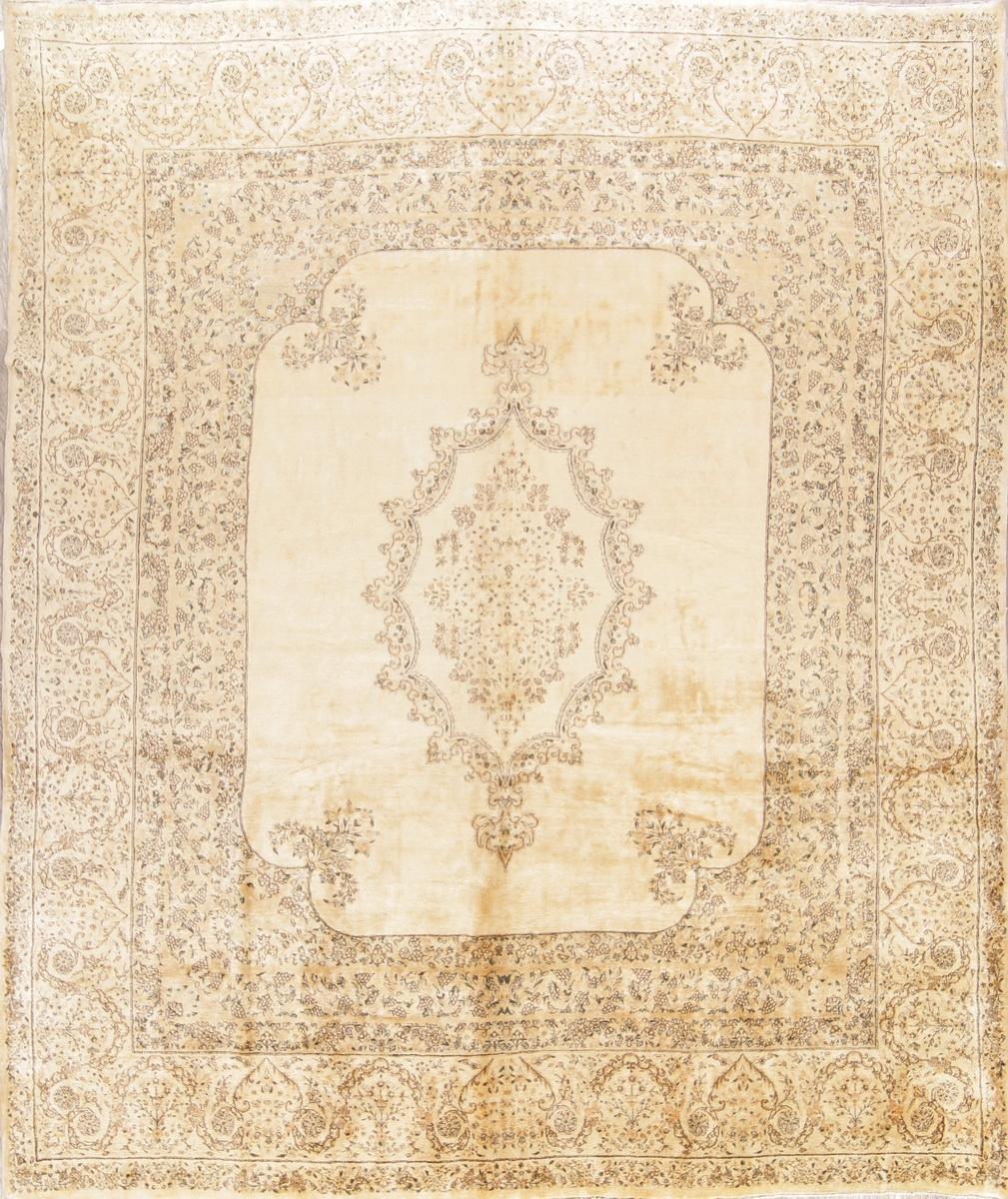 Details About Antique Muted Gold Color Floral 11x13 Ft Kirman Lavar Oriental Area Rug Large
