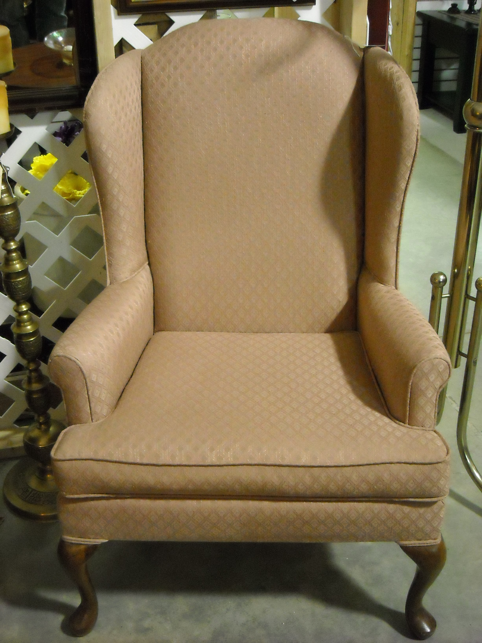 Used Wingback Chairs Goose On The Roof Antiques Broyhill Wingback Chair